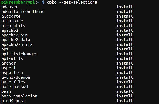 Obtener lista de programas instalados en Linux