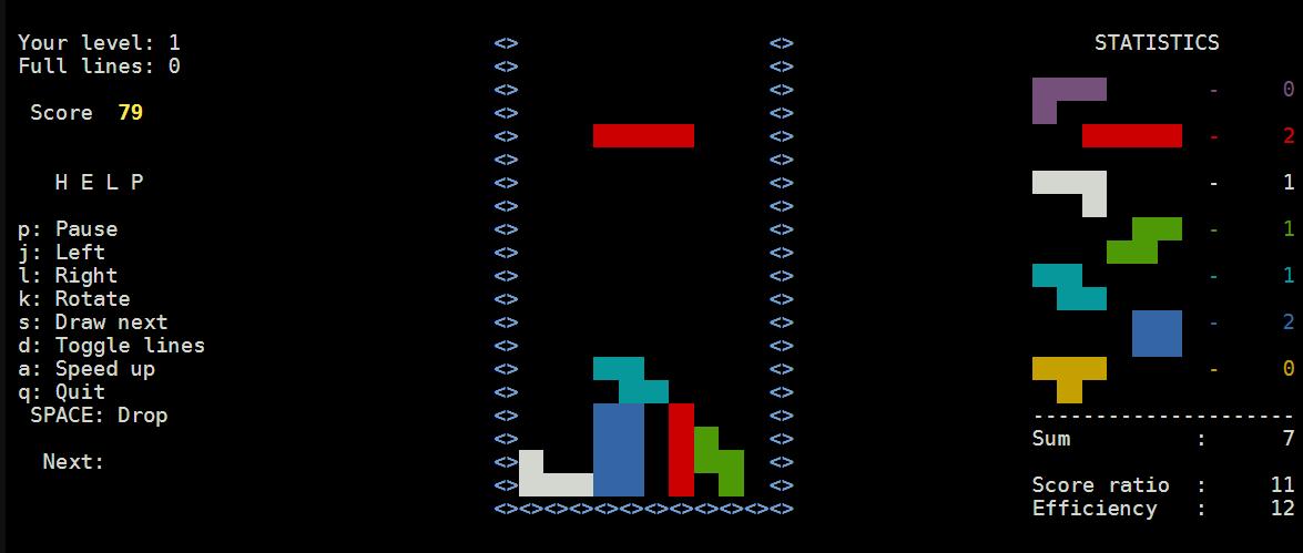 Jugar al Tetris desde el terminal