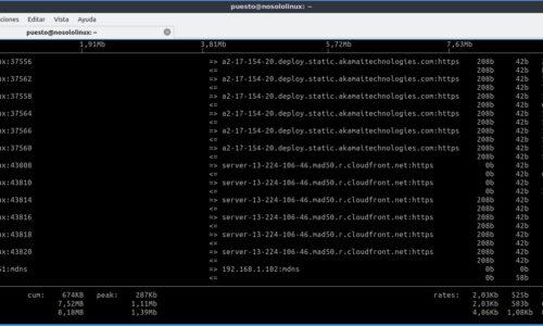 iftop: Monitor de red desde el terminal Linux