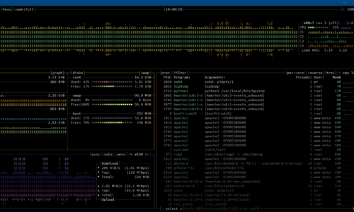 Instalar bpytop en Raspberry/Linux